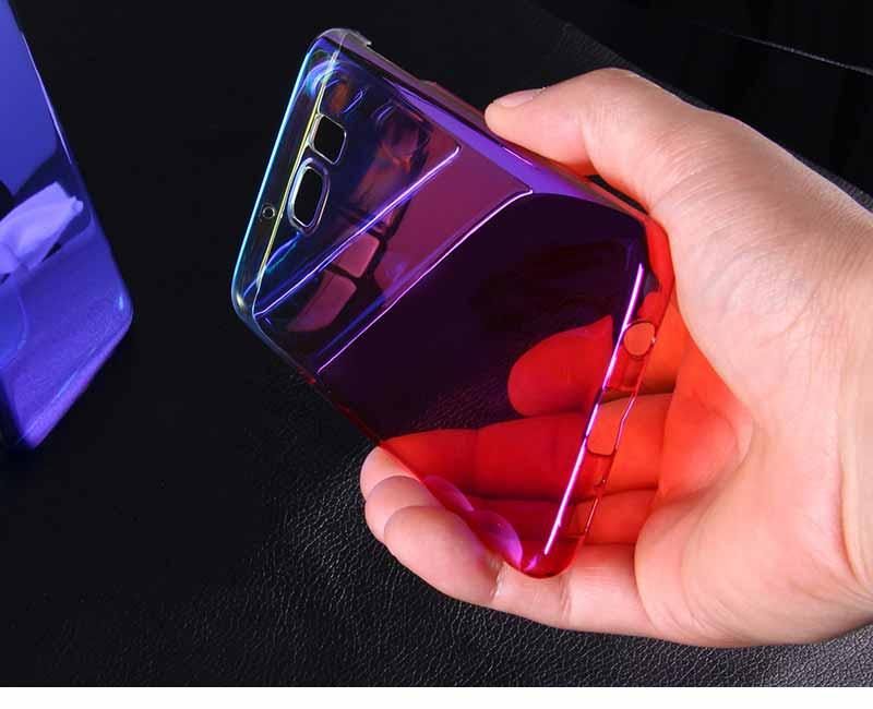 Kolorowe case do samsung galaxy s7 edge s8 plus s8 case gradientu kolor pc mocno plecy pokrywa dla samsung s8 s7 krawędzi case artisome 15
