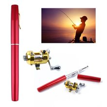 Mini Transportable Retractable Pocket Pen Form Fishing Rod Aluminum Alloy Brass Alloy Reel Rod 1 Fishing Rod And Reel Out of doors Instrument