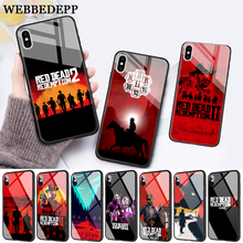 WEBBEDEPP game Red Dead Redemption 2 Glass Phone Case for Apple iPhone XR X XS Max 6 6S 7 8 Plus 5 5S SE webbedepp hot red dead redemption 2 glass phone case for apple iphone xr x xs max 6 6s 7 8 plus 5 5s se