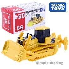 Takara Tomy Tomica NO.56 Komatsu бульдозер D155 весы 1:109 строительная техника Diecast металлические модели комплект Детские игрушки