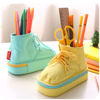 1pc Creative Multifunction Canvas Pencil Box Office Pen Holder Pencil Holder Home Decoration