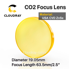 "Cloudray EE.UU. CVD ZnSe Lente de Enfoque de Dia. 19.05mm FL 63.5mm 2.5 ""para CO2 Grabado Por Láser Máquina de Corte Envío Gratis"