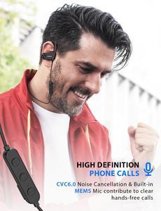 Image 5 - Mpow D9 Bluetooth 5.0 Cuffia Senza Fili 16 18H tempo di Gioco ipx7 Impermeabile di Sport del Trasduttore Auricolare di Sostegno APTX Per Android iPhone samsung