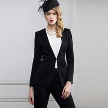 2018 Fashion Elegant Women Business Suits Women's Jacket+Pants Office 2 Piece Sets Ladies Formal Work Wear High Quality Custom