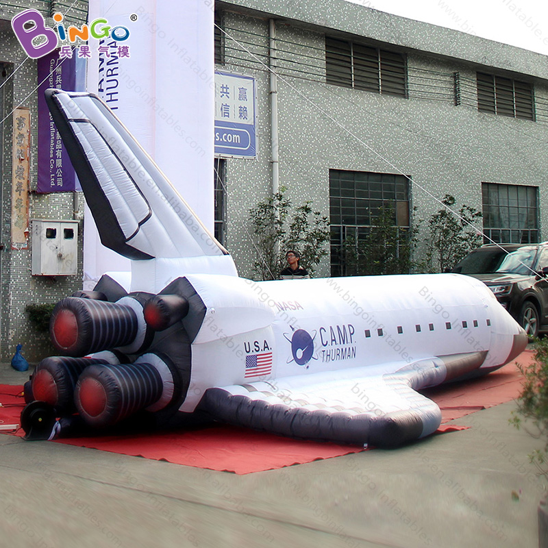 8 meters Length Giant Inflatable Aerospace Plane, Inflatable Spaceship Rocket Sign, Inflatable Space Shuttle Space Rocket Model storm snow space shuttle energy number carrier rocket puzzle handmade paper model rocket 1 96 scale high 45cm diy paper art