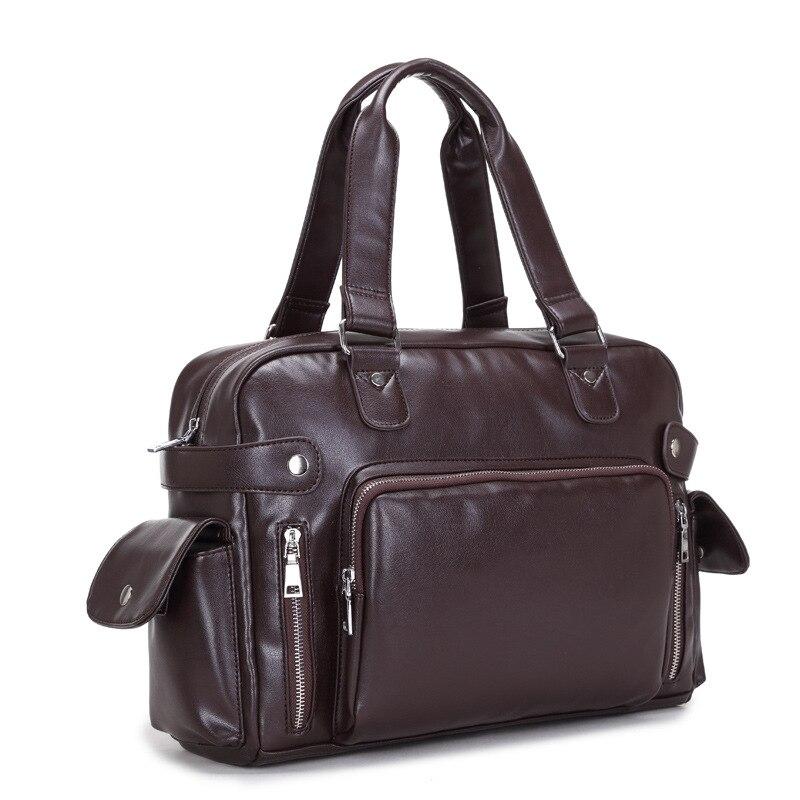 Men Messenger Bags Fashion Mens Leather Big Size Shoulder ...
