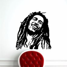 Bob Marley Wall Decal Vinyl Stickers Reggae Music Star Sticker Home Art Decor Removable Wallpaper AY319