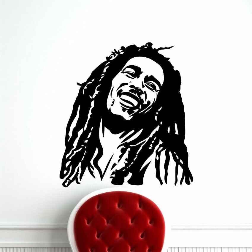 Bob Marley Wall Decal Vinyl Stickers Reggae Music Star Wall Sticker