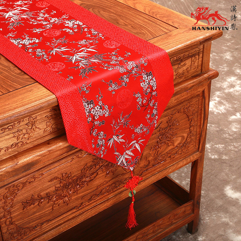 120 Inch Extra Long Chinese Knot Banquet Table Runners Cherry Blossoms Silk  Brocade Decorative Table Cloth Luxury Bed Runner In Table Runners From Home  ...