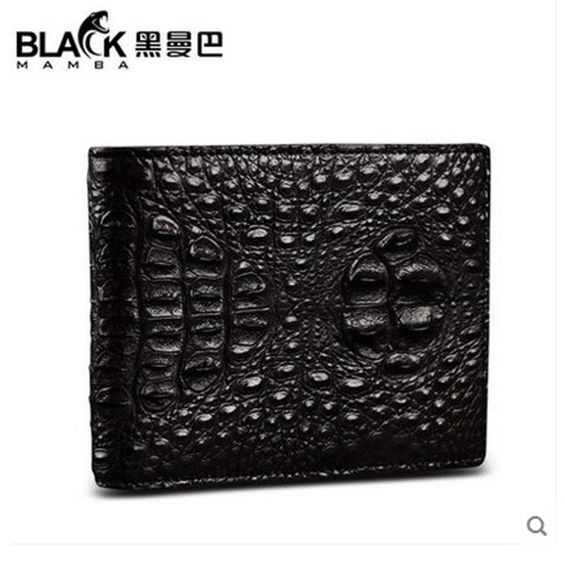 heimanba Crocodile leather men wallet male short men wallet wallet leather Thai crocodile short men purse 2016 special wholesale male wallet wander settling anywhere a stall with spread out on ground short fund wallet ultrathin will