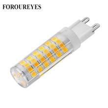 Lámpara LED G9 superbrillante de gran oferta, CA de 220V, 4W, 5W, 7W, bombilla LED SMD2835 de cerámica, reemplaza 30W, 40W, 50W, luz halógena para candelabro