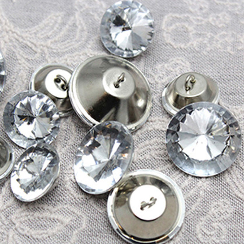 Buttons Disciplined 36piece/lots Accessories Sofa Soft Package Crystal Beautiful Button Wall Cap Bedside Deduction Handmade Diy Drilling Buttons