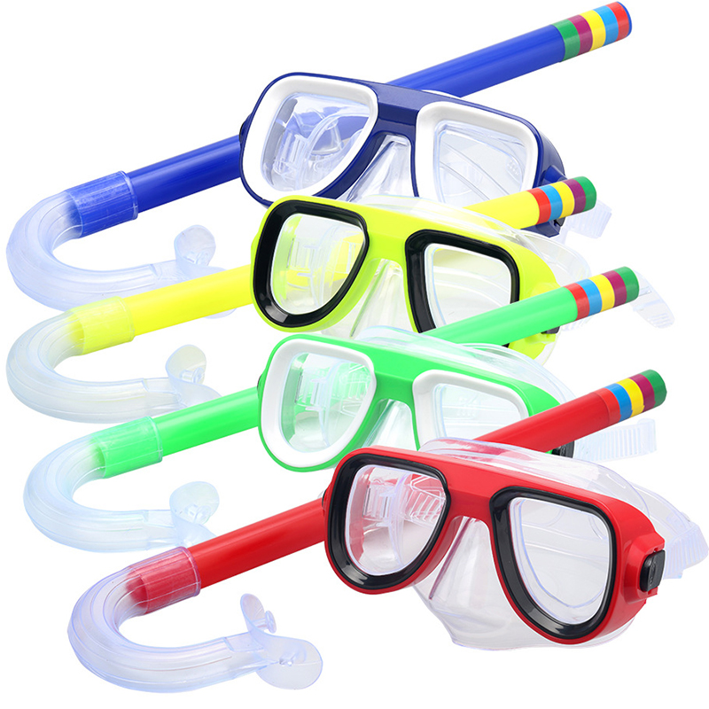FDBRO New Multi-function Mask for Swimming Snorkel Diving Mask Goggles and Breathing Children Mask for Diving
