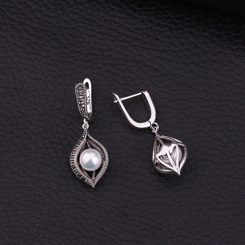 Feelgood conjunto de joyas de perlas de imitación de color plata de - Bisutería - foto 4