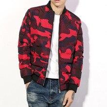 Вниз Парки Камуфляж Мужчины Пальто Мужская Мода Теплые Пальто 2016 Мода мужчин Slim Подходит Outwears Плюс Размер 5XL Горячие Продажа Мужчины Пальто