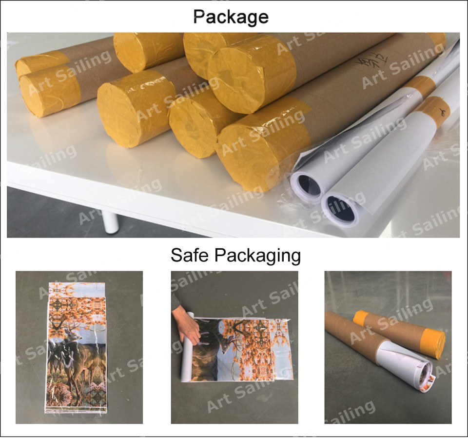custom canvas print packaging / personalized gifts