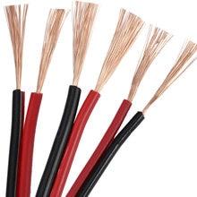 Câble électrique parallèle à 2 fils, haut-parleur Led, gaine Rvb, 10M, en cuivre, rouge, noir
