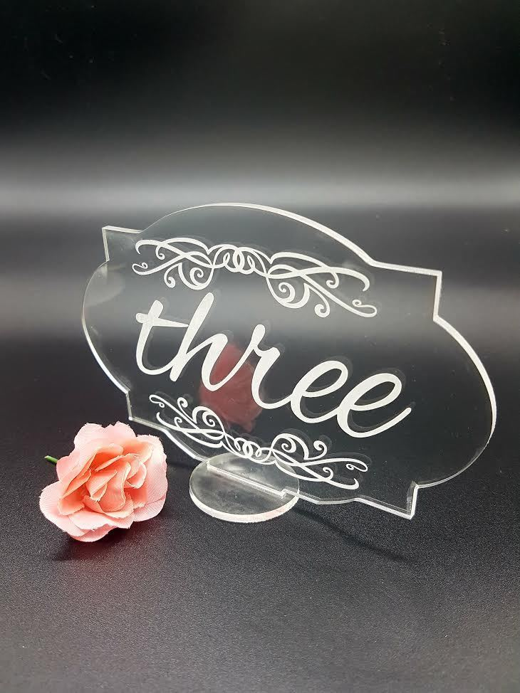 Wedding Acrylic Table Numbers ,personalized table name