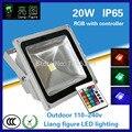 20 watt RGB Wasserdichte Outdoor led flutlicht IP65 LED Außenbeleuchtung Lampe Led strahler für square hotel-in Scheinwerfer aus Licht & Beleuchtung bei