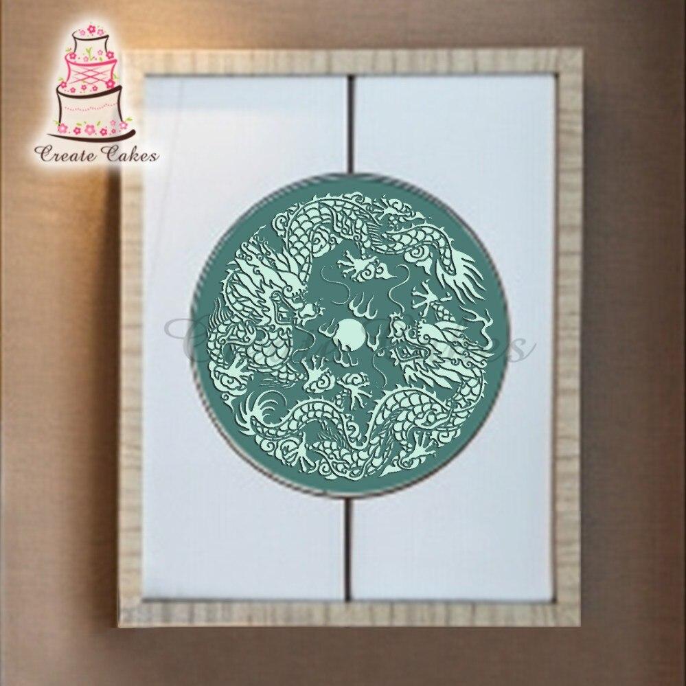 grande parete della cucina stencil di plastica accarezzando stencil per la parete decorazione di una torta