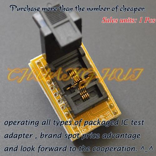 IC TEST DFN8 WSON8 MLF8 socket QFN8 to DIP8 Programmer adapter DFN8 WSON8 MLF8 socket Pitch=0.65mm Size=3mmX3mm