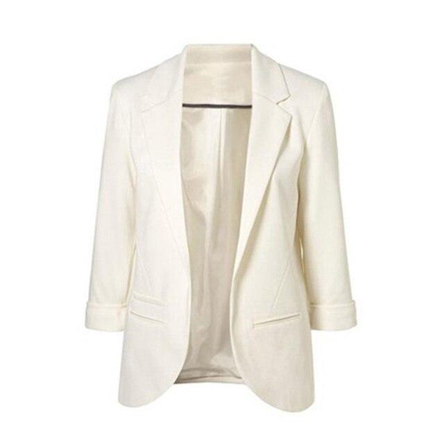 Autumn Women Casual Small Suit Coat Slim Elegant Solid Office Lady Blazer Work Wear Jacket