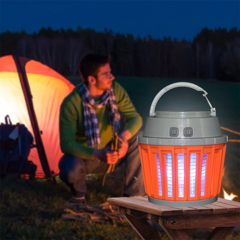 Tanbaby Portable Camping Lantern Light Mosquito Killer Portable Tent Light IP65 Waterproof with 2000mAh Rechargeable Battery