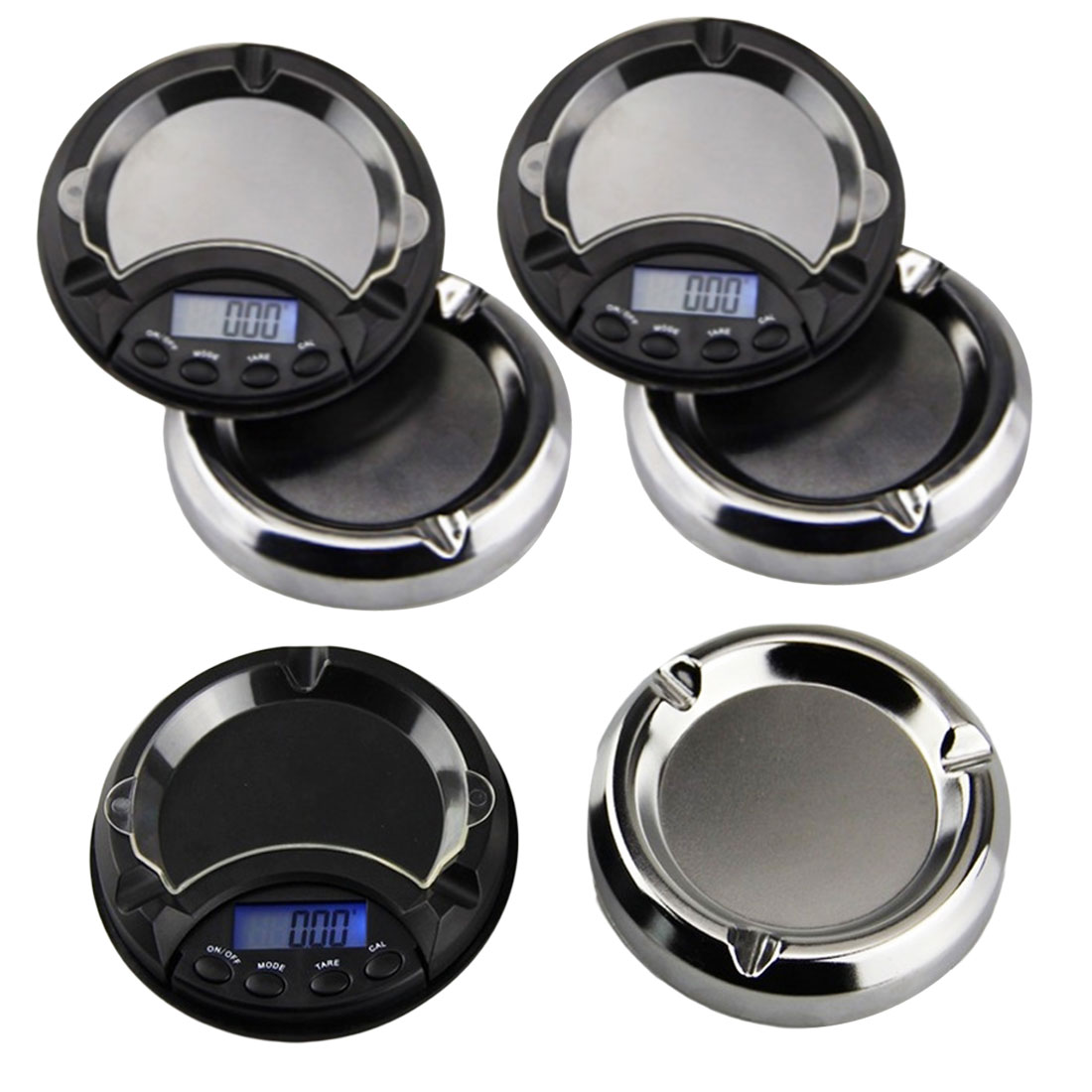 Portable Ashtray <font><b>Digital</b></font> <font><b>Scale</b></font> <font><b>0.01g</b></font> Electronic <font><b>Pocket</b></font> <font><b>Scales</b></font> for Gold Silver Jewelry <font><b>Scale</b></font> High Precision Blue Backlight image