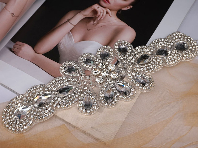 bce8ab83e Rhinestone decorative chain rhinestone swarovski crystal appliques for Fashion  Wedding dresses sew on rhinestone trimming patch