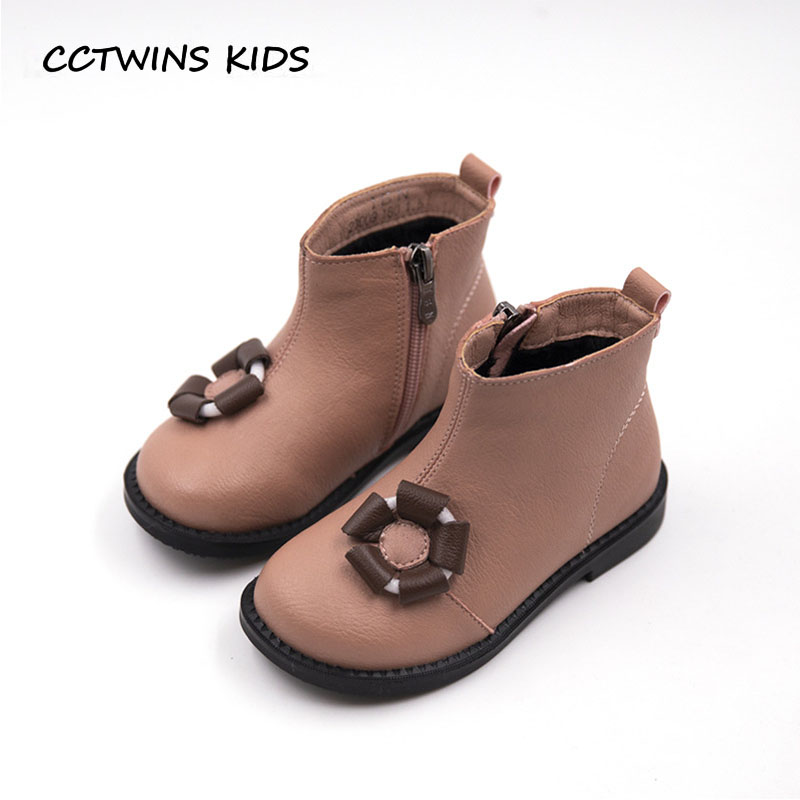 CCTWINS KIDS 2018 Winter Baby Girl Fashion Pu Leather Shoe Toddler Brand Warm Ankle Boot Children Black Snow Boot CF1603 cctwins kids 2018 winter children brand black knee high boot baby pu leather flat girl fashion warm shoe toddler h057