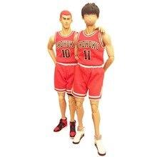 Slam Dunk Rukawa Kaede 11 + Hanamichi Sakuragi 10 Collectible Action Figure Gift Free Shipping