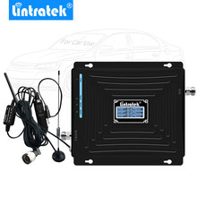 Lintratek 자동차 부스터 2g 3g 4g 휴대 전화 신호 부스터 2100 mhz 1800 mhz 900 mhz 트리플 밴드 휴대 전화 신호 리피터 드라이브 @