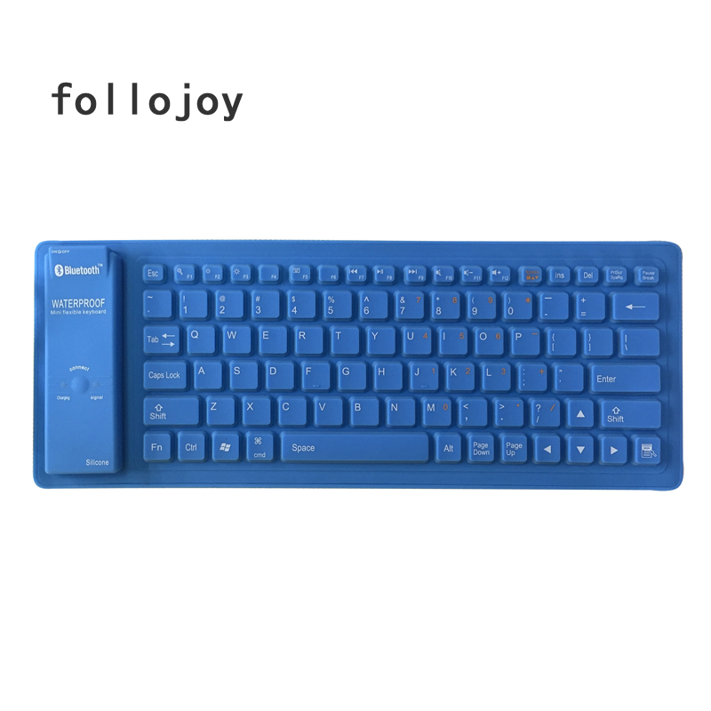 Image 3 - No Typing Noise Flexible Silicone Bluetooth Keyboard Wireless Keyboard-in Replacement Keyboards from Computer & Office