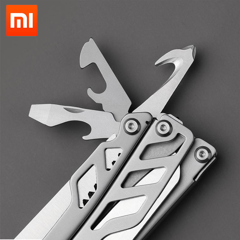 Xiaomi Huohou Multi function Folding Knife Bottle Opener Screwdriver / Pliers Stainless Steel Army Knives Hunting Outdoo
