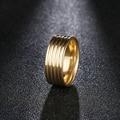 DOTIFI 316L кольца из нержавеющей стали для женщин Два цвета 5 кругов обручальное кольцо ювелирные изделия