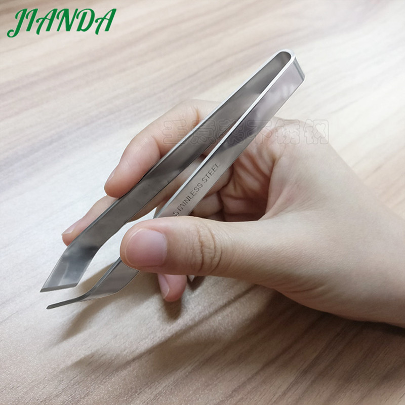 JIANDA Fish Bone Tweezers Stainless Steel Pork Hair Clamp Seafood Tools Chicken Duck Hair Pincer