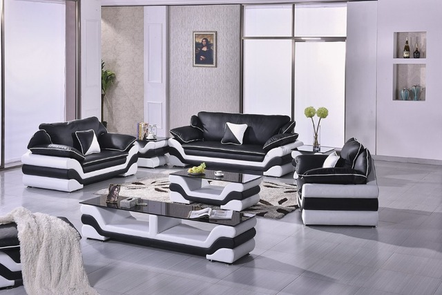 Vistoso Muebles De Salón De Cuero Fantástica Componente - Muebles ...