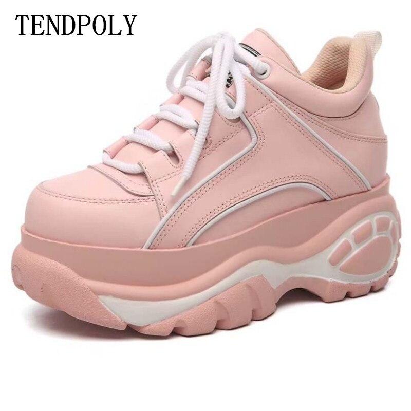 ใหม่รองเท้าบูทแฟชั่น retro high   top ความสูงฤดูใบไม้ผลิฤดูใบไม้ร่วงหนา soled ขายดีหนังกีฬาผู้หญิงรองเท้า-ใน รองเท้าบูทหุ้มข้อ จาก รองเท้า บน   1