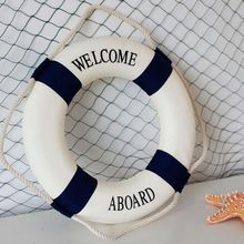 Hot Sale Foam Home Decor Artificial & Dried Flowers Nautical Decorative Lifebuoy Life Ring Wall Hanging Room Bar
