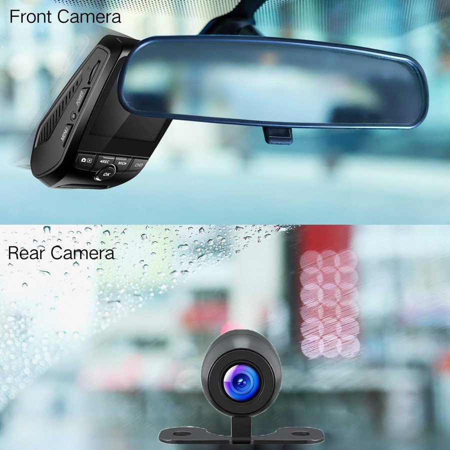 WHEXUNE WiFi Автомобильный видеорегистратор для приборной панели 2,4 дюймов мини видеорегистратор Novatek 96658 двойной объектив видеокамера FHD 1080 P ночное видение