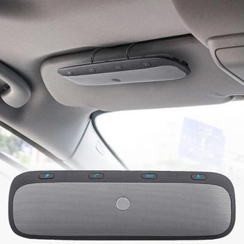 New Sun shading board  Multipoint Wireless Bluetooth Handsfree calling Car Kit Speakerphone Audio Music Speaker For Smartphones