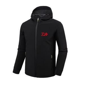 Image 3 - 2018 DAIWA Fishing Shirts Autumn Winter Warm Outdoor Fishing Jackets sport Fleece hooded Fishing Jacket