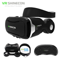 Original VR Shinecon 4.0 Smartphone Stereo Virtual Reality 3D Glasses Headset VRBOX Helmet + Shinecon Remote Control for 4-5.5'