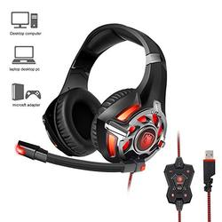 SADES R16 Gaming Headset Headphones USB 7.1 Surround Stereo Over Ear For PC/Laptop Gamer