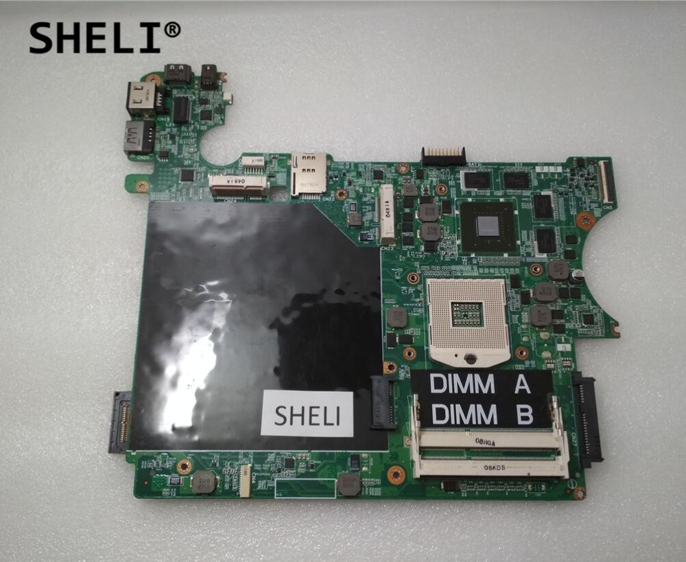 SHELI For Dell L401x Motherboard with GT425M Video Card 1GB N110P 0N110P CN-0N110P sheli for dell 1645 motherboard with hd 4670 1gb da0rm5mb8e0 cn 0y507r 0y507r y507r