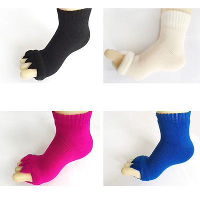 Health Massage Toe Japanese Five Separator Toes Socks For Bunion Care Home New