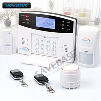 HOMSECUR Wireless Wired GSM Home Security Burglar Alarm System RU Voice With SOS Intercom RU Local