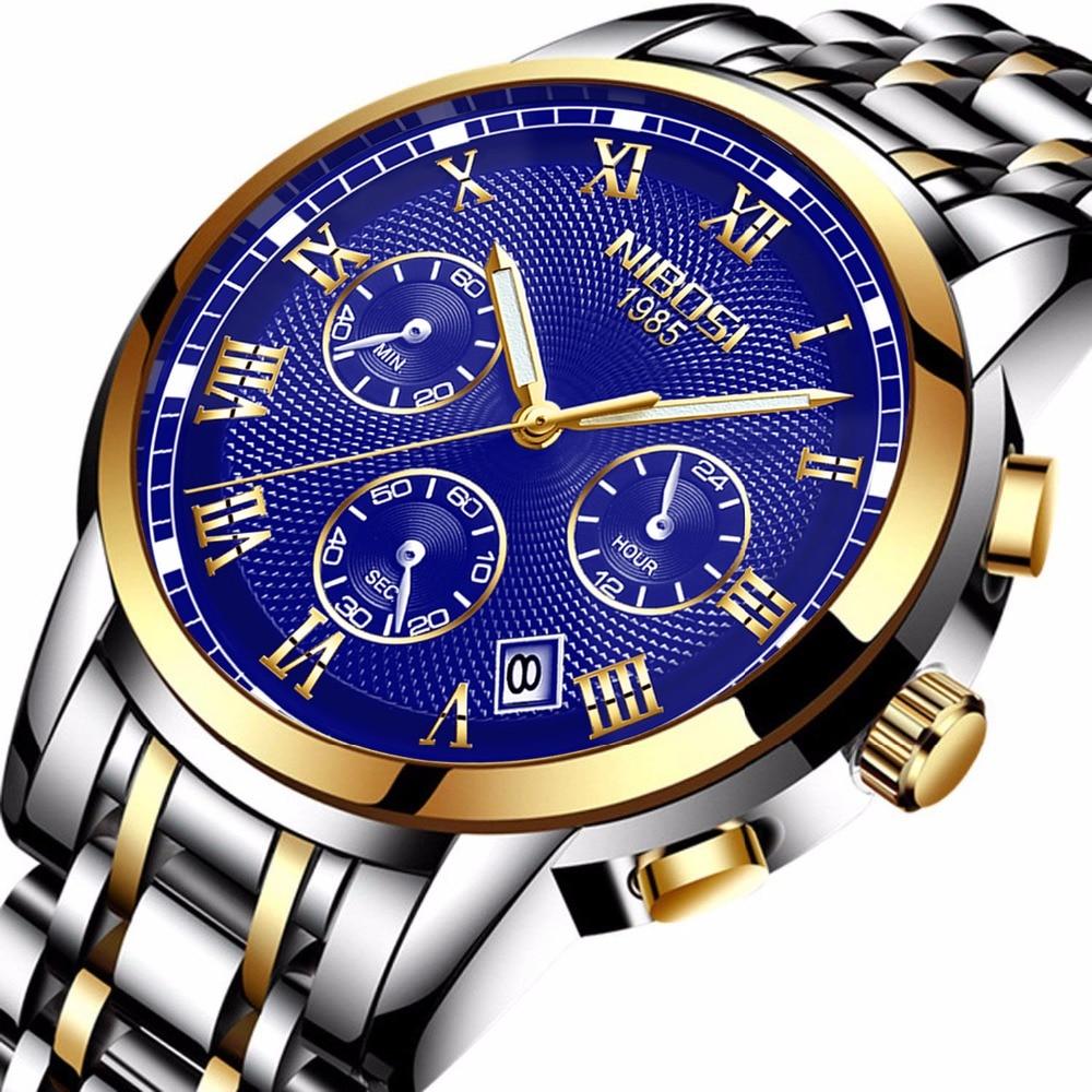 NIBOSI watch men Fashion Sport quartz Clock mens watches Top brand luxury Waterproof Wrist WATCH майка классическая printio elvis presley