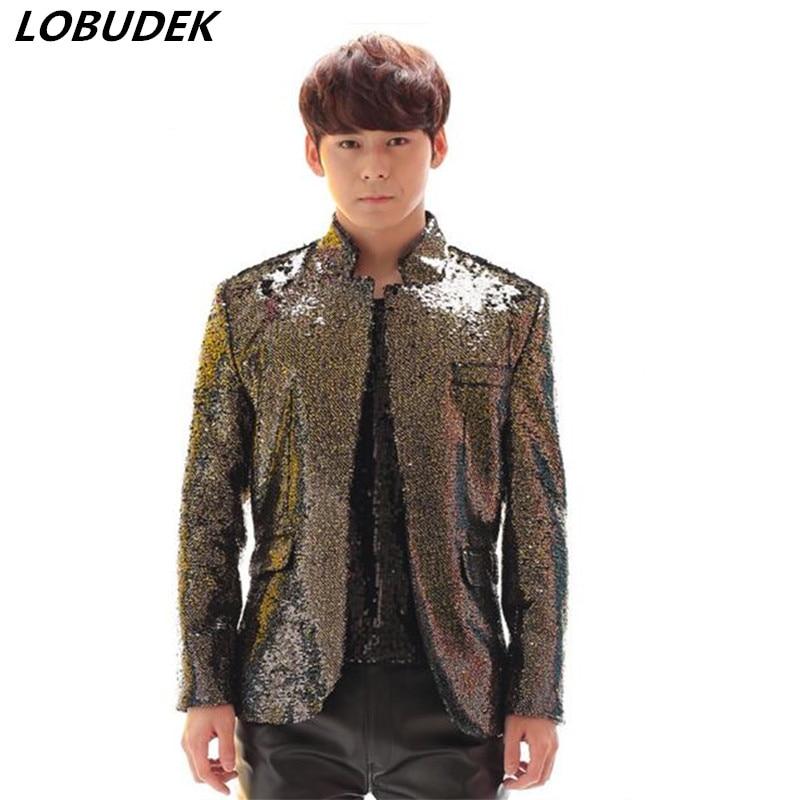 Здесь продается  2017Gradient color jacket male costume men