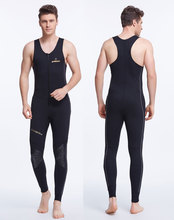 1.5mm Neoprene Men's Sleeveless Wetsuits for Diving Snorkeling Surfing Scuba Sports Men's Long John Wetsuit Front Zipper Black